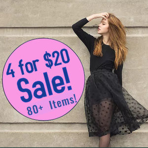 4 For $20 Sale on over 80 items!